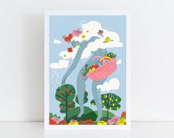 The colour collector - Giclée art print.