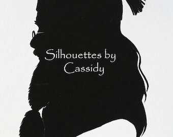 Dumbledore from Harry Potter series cut paper silhouette