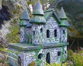 STONE FAIRY CASTLE - Fairy Castle - Fairy House - Fairy Garden Castle Ruin Miniatures or Fairy Gardens Fairy Garden Accessories