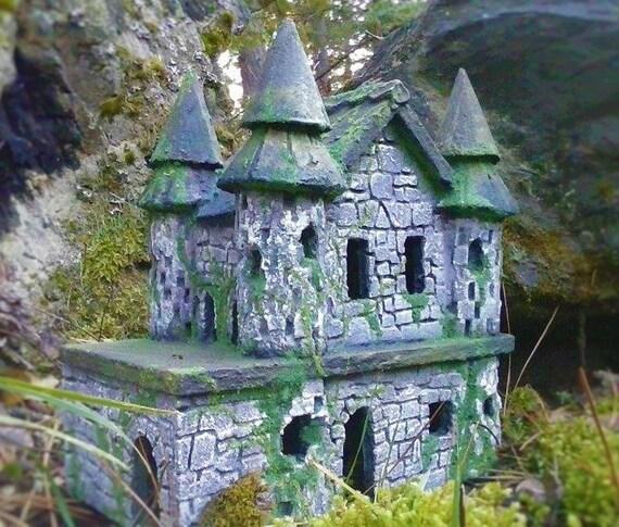 STONE FAIRY CASTLE   Fairy Castle   Fairy House   Fairy Garden Castle Ruin  Miniatures Or Fairy Gardens Fairy Garden Accessories