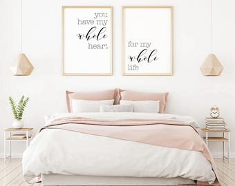 Bedroom Wall Decor Ideas  Home Art Master Minimalist Poster Art Etsy