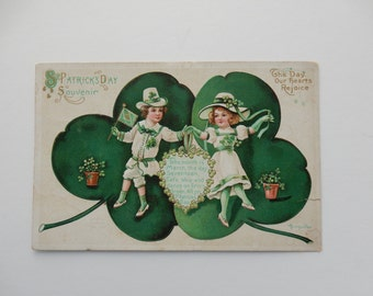 Vintage Postcard St Patrick's Day International Art Publish Co. German