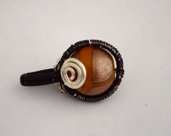 Bead Wrapped Pendant