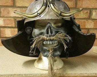 Post Apocalyptic Samurai Mempo Mask & Helmet