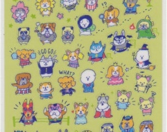 Dog Stickers - Japanese Stickers - Mind Wave Stickers - Reference A5863