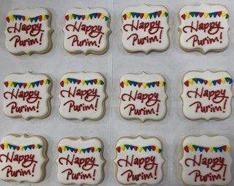 Happy purim cookies / mishloach manos cookies