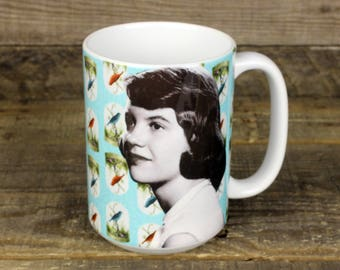 Sylvia Plath MUG poet Writer gifts for her Girlfriend Gifts Bell Jar role model Best Friend Gifts Librarian Gifts readers writers Poetry