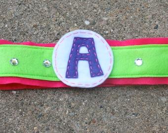 Girls Superhero Belt- Customize- Superhero Accessory-Pink Green-Superhero Dress Up Party