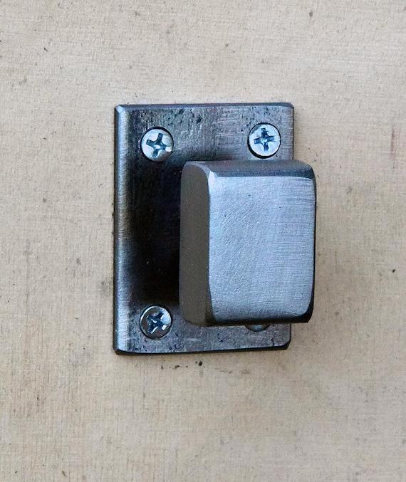 Steel Drawer Knob / Metal Cabinet Handle / Gray Steel Cabinet