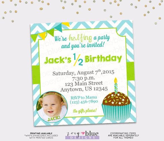 Half birthday invitation boy 6 month birthday invitation filmwisefo Images