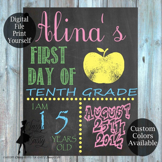 First Day Of School Chalkboard Sign 155