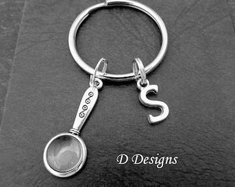 Science key ring etsy magnifying glass keyring magnifying glass keychain science key chain science key ring urtaz Gallery
