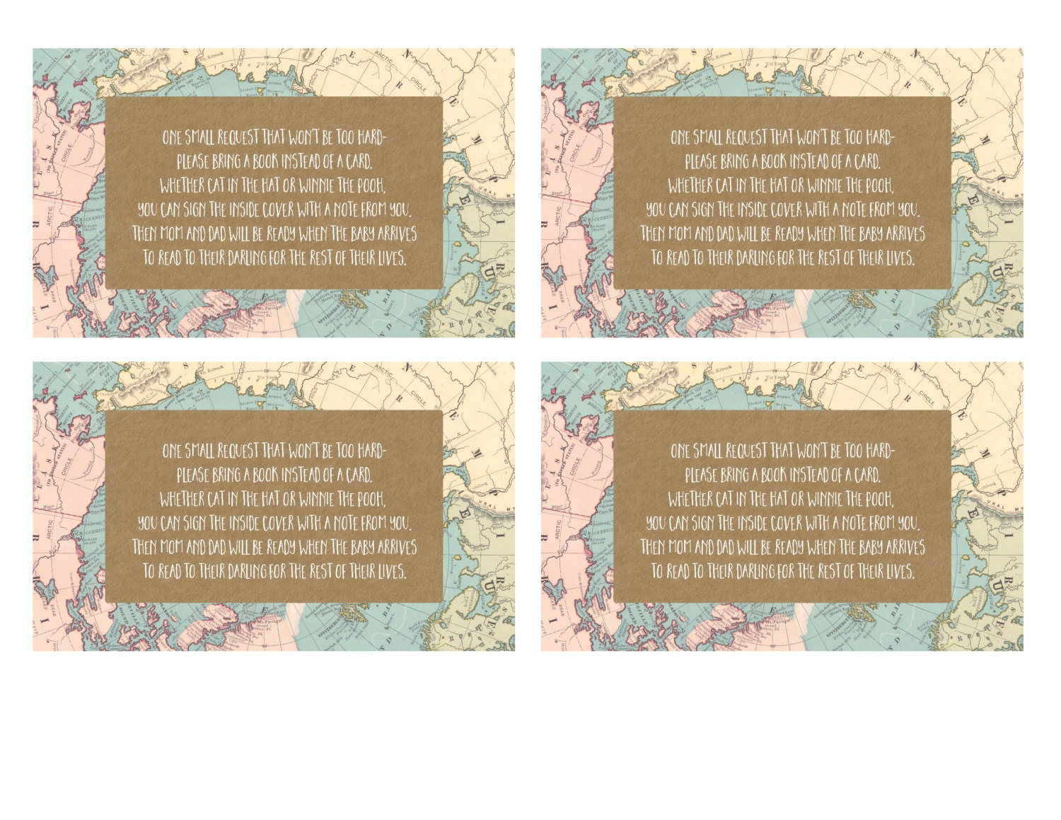 Baby Shower Gift Card - Bring a Book instead of a Card - Baby Shower ...