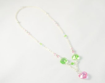 Pink & Green Necklace