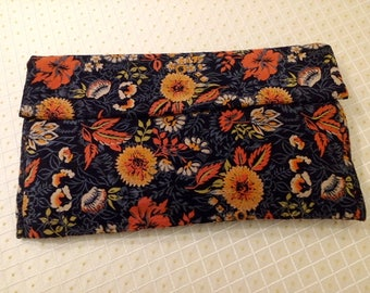 Large 1940s Floral Corduroy Clutch Bag Retro Fashion Accessory Cool Swing Style