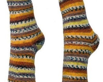 Easy Toe Up Socks - Knitting Pattern PDF