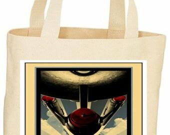 Custom vintage style Star Trek tote bag Boldly go
