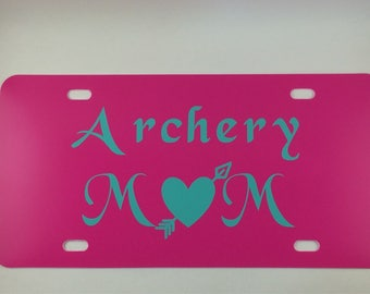 Archery Mom license plate - archery license plate - archery mom - archery decal - NASP