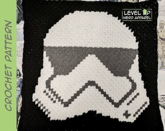 "Space Soldier blanket CROCHET PATTERN || 30"" x 30"" 