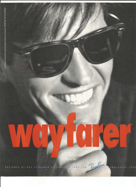1992 Werbung Wayfarer Sonnenstrahl Gläser verbietet