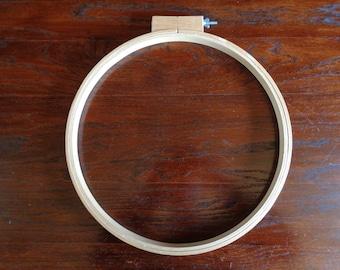 """Large 14"""" Vintage Wood Embroidery Hoop Sewing Quilting Adjustable DIY Tool"""