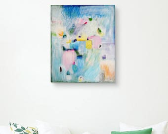 "Original Painting, Modern Art, Home Decor, Wall Art, Decoration, Abstraction - ""Transparency"""