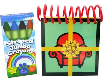Blue's BIG BIRTHDAY Handy Dandy Notebook with box of 4 Crayons