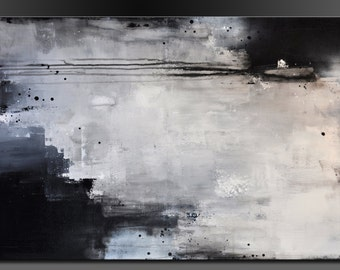 Urban Move - 24 x 36 - Abstract Acrylic Painting on Canvas - Contemporary Original Wall Art
