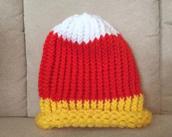 Candy Corn Hat - Preemie & Infant - Made to Order
