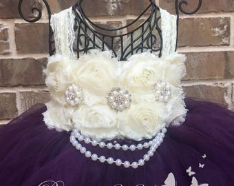 Plum Flower Girl Dress, Plum Tutu Dress, Plum Tulle Dress, Plum Dress, Plum Wedding, Plum Tutu, Plum