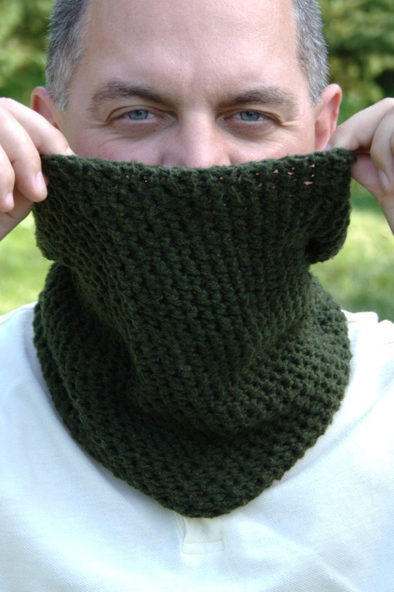 Crochet Pattern Mens Ear Warmer Pattern Mens Neck Warmer