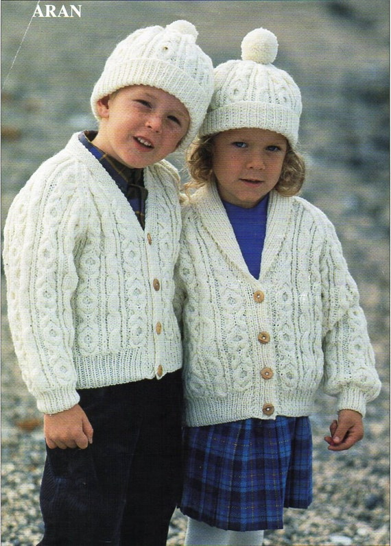 Baby childs childrens aran jackets knitting pattern pdf cable shawl baby childs childrens aran jackets knitting pattern pdf cable shawl collar cardigans hat 22 32 inch aran worsted 10 ply pdf instant download from minihobo dt1010fo