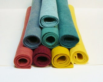 "Bethany 8 Color Wool Blend Felt Fabric Sheets 12"" x 18"""