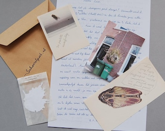 Personal Letter, Handwritten, Dutch text, goodies, whimsical mail, local happiness, snailmail, singing blackbird
