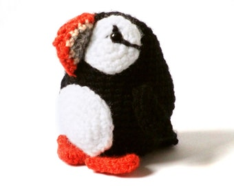Amigurumi Pattern Crochet - Puffin Bird - PDF