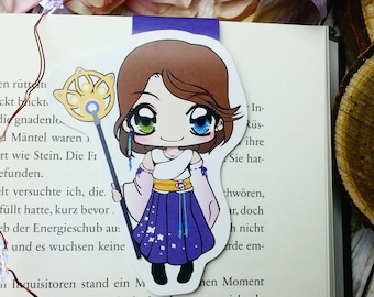 """LE magnetic bookmark """"Yuna"""" - inspired by final fantasy x"""