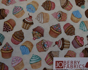 Cupcakes from the Home Sweet Home Collection by Dan Morris for Quilting Treasures. Quilt and Craft Fabric,,  Fabric by the Yard.