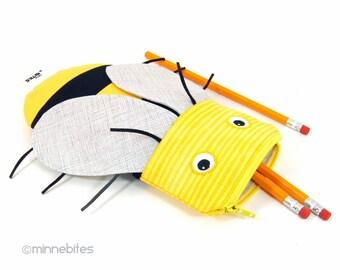 Miel abeille crayon sac - meilleur vendeur école Kit - apiculteur cadeau - enfants abeille partie Favor - adulte Coloriage pochette - lunettes de soleil cas - prêt à l'expédition