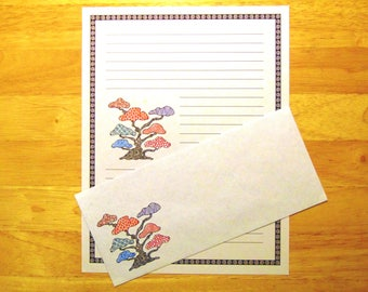 Tangled - Zentangle - Lined Stationery Set With Envelopes - Snail Mail - Pen Pal Letters - Stationary Writing Paper