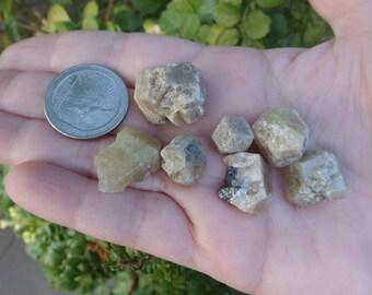 7 pc Green Grossularite Garnets, Mexico, Birthstone