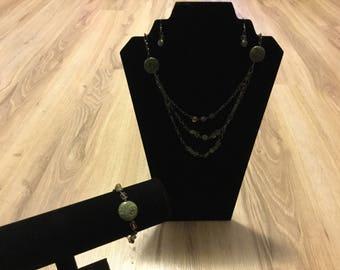Jade stone three set piece
