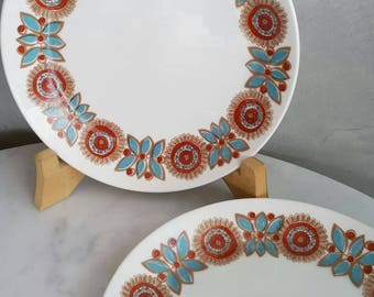 "Figgjo Flint Norway Dessert Plate ""Astrid"" Pattern. Designed by Turi Gramstad Oliver at 1960s"