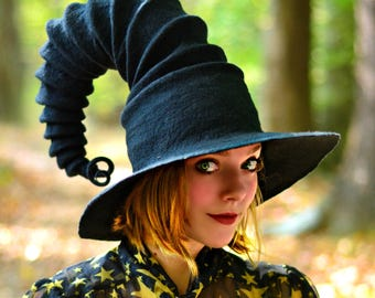 Costume Hat. Witch Hat. Wizard Hat. Fantasy Hat. Cosplay Hat. LARP.