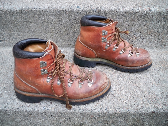 Backpacking Stomper Setter USA Hiking Men's Trail 5 Vintage Camping Wing Red Boots Made Irish in 7 Size Leather Mountaineering Brown wSat0Yq