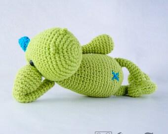 Dino Amigurumi - PDF Crochet Pattern - Instant Download - Doll crochet Animal Cuddy Stuff Plush