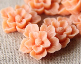 12 pcs of sakura flower cabochon-22mm-rc0166-8-peach