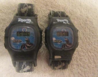 2x vintage Boy digital I roboot watch