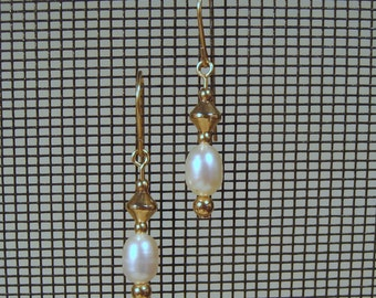 Gold-filled Freshwater Pearl Dangle Earrings