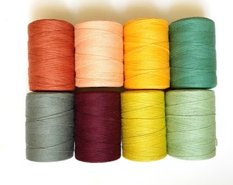Warp for Tapestry Weaving, Colored Warp, Cotton Warp for Woven Wall Hanging, Cotton Warp Thread, Weaving Warp, Warp Cone Natural Cotton Warp