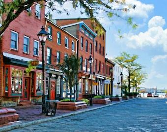 Fell's Point, Baltimore Art, Fine Art Print, Historic Street, Cityscape